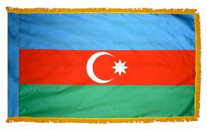 Флаг Азербайджана с бахромой