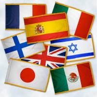 Набор флагов стран членов ООН с бахромой
