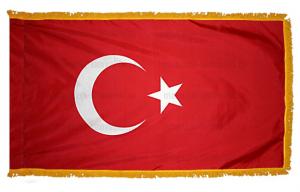 Флаг Турции с бахромой