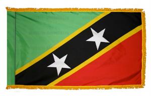 Флаг Сент Китс и Невис с бахромой