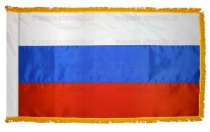 Флаг России с бахромой