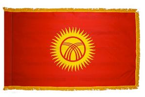 Флаг Кыргызтана с бахромой