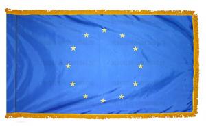 Флаг Евросоюза с бахромой