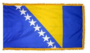Флаг Боснии и Герцеговины с бахромой
