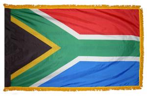 Флаг ЮАР с бахромой