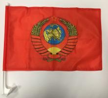 Флаг СССР с гербом на машину