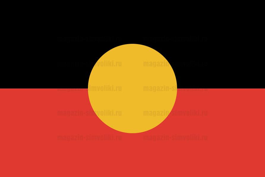 Флаг аборигенов Австралии