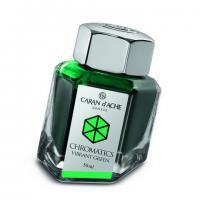 Carandache Чернила (флакон), зеленые (Vibrant Green), 50 мл