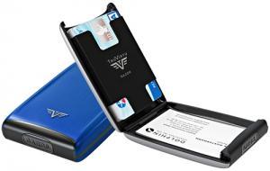 Визитница c защитой Tru Virtu Razor, светло-синий, 104x68x20 мм