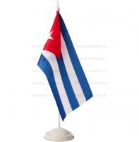 Флаг Кубы настольный на подставке