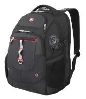"""Рюкзак Wenger 15"""", чёрный/красный, 34x22x46 см, 34 л"""