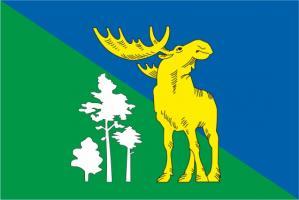 Флаг Лосиноостровского(район г. Москвы)