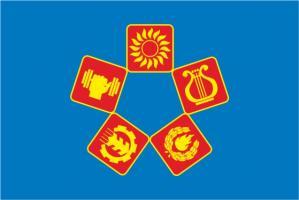 Флаг Люберецкого района(1998г.)