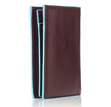 Бумажник Piquadro Blue Square, коричневый, 9,5x12,5x2 см