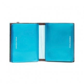 Чехол для кредитных/визитных карт Piquadro Blue Square, коричневый, 8,8x10,5x1,2 см