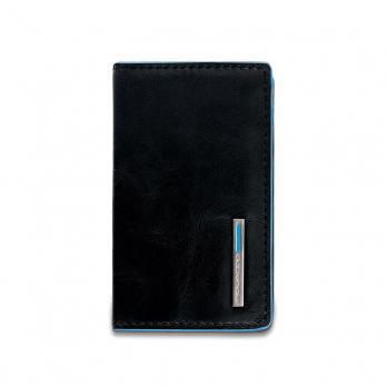 Чехол для кредитных/визитных карт Piquadro Blue Square, черный, 10x6x1,5 см