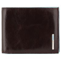 Портмоне Piquadro Blue Square, цвет коричневый, 12,5х9,5х2,5 см