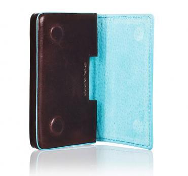 Чехол для кредитных/визитных карт Piquadro Blue Square, коричневый, 10x6x1,5 см