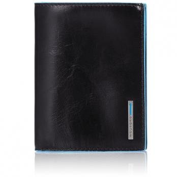 Бумажник Piquadro Blue Square, черный, 9,5x12,5x2 см