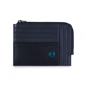 Чехол для кредитных карт Piquadro Pulse, синий, 12х9х1 см