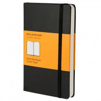 Блокнот Moleskine Classic Large, цвет черный, в линейку