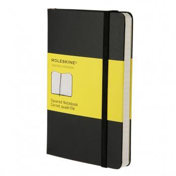 Блокнот Moleskine Classic Pocket, цвет черный, в клетку