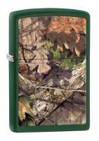 Зажигалка Zippo MOSSY OAK® BREAK-UP с покрытием Green Matte, латунь/сталь, зелёная, 36x12x56 мм