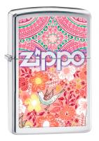 Зажигалка Zippo Classic с покрытием High Polish Chrome, латунь/сталь, серебристая, 36x12x56 мм