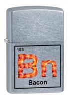 Зажигалка Zippo Classic с покрытием Street Chrome, латунь/сталь, серебристая, матовая, 36x12x56 мм