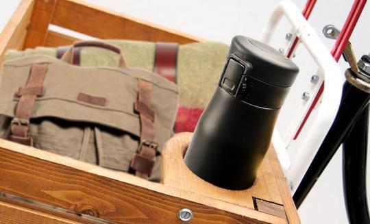 Термокружка Asobu Liberty canteen (0,5 литра), черная/золотистая*
