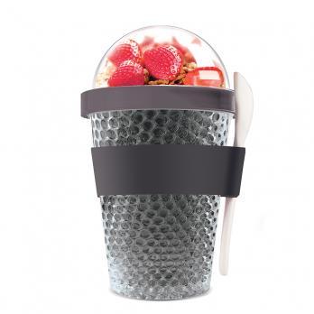 Контейнер Asobu Chill yo 2 go (0,38 литра), серый*