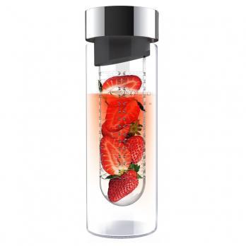 Бутылка Asobu Flavour it (0,48 литра), серая*