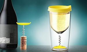 Бокал Asobu Vino opener (0,35 литра), желтый