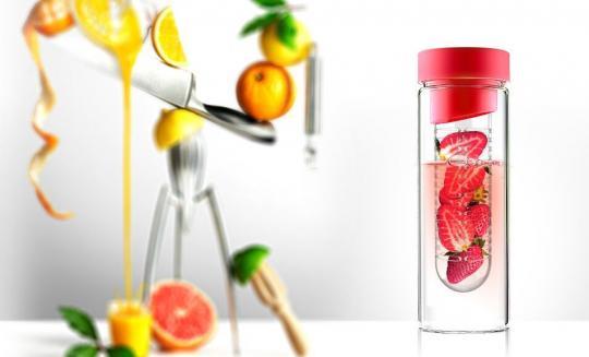 Бутылка Asobu Flavour it (0,48 литра), красная*