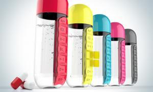 Бутылка органайзер Asobu In style (0,6 литра), красная