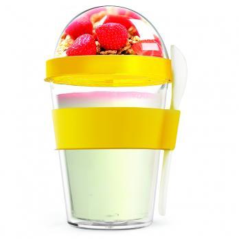Контейнер Asobu Yo2go improved (0,36 литра), желтый