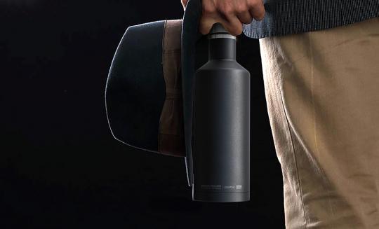Термос-бутылка Asobu Times square (0,45 литра), черная*