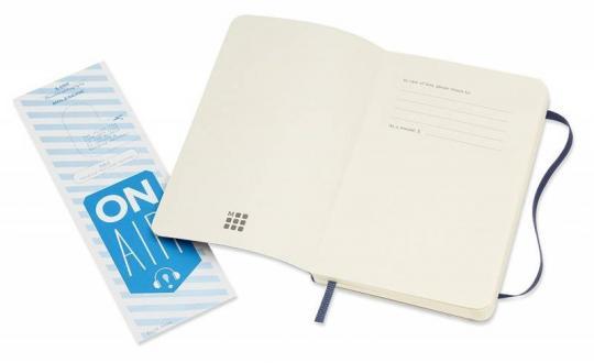 Блокнот Moleskine Classic Soft, цвет синий, без разлиновки