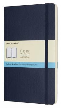 Блокнот Moleskine Classic Soft, цвет синий сапфир, пунктир