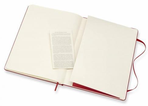Блокнот Moleskine Classic XLarge, цвет красный, без разлиновки
