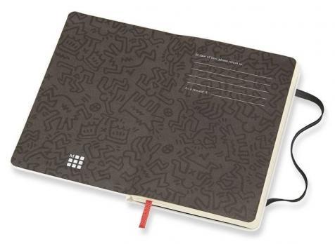 Блокнот Moleskine Keith Haring LE, цвет белый, в линейку