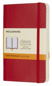 Блокнот Moleskine Classic Soft, цвет красный, в линейку