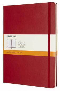 Блокнот Moleskine Classic XLarge, цвет красный, в линейку