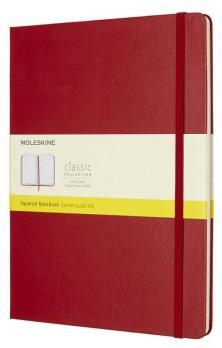 Блокнот Moleskine Classic XLarge, цвет красный, в клетку