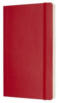 Блокнот Moleskine Classic Soft, цвет красный, в клетку