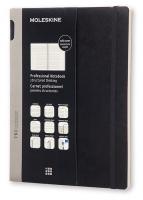Блокнот Moleskine Professional Soft XL, цвет черный, без разлиновки
