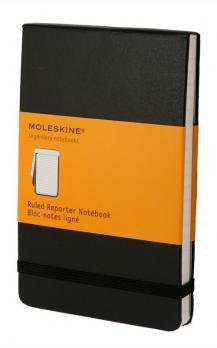 Блокнот Moleskine Reporter, цвет черный, в линейку