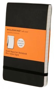 Блокнот Moleskine Reporter Soft, цвет черный, в линейку