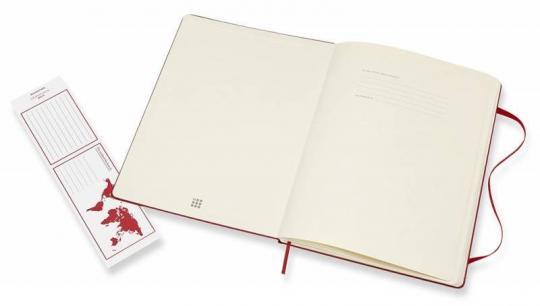 Блокнот Moleskine Classic XLarge, цвет красный, пунктир