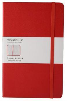 Блокнот Moleskine Classic Large, цвет красный, в клетку